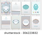 stock vector set of brochures... | Shutterstock .eps vector #306223832