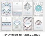 stock vector set of brochures... | Shutterstock .eps vector #306223838