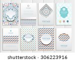 stock vector set of brochures... | Shutterstock .eps vector #306223916
