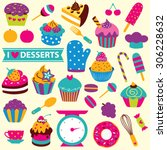 Cupcakes Elements Clip Art Set