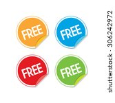 colorful free sticker labels | Shutterstock .eps vector #306242972