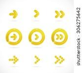 glossy balloon arrow icons