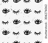 seamless hand drawn pattern... | Shutterstock .eps vector #306276062