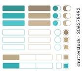 flat design web elements....