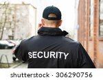 close up of male security guard ... | Shutterstock . vector #306290756