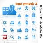 vector map symbols. set 2. | Shutterstock .eps vector #30629488