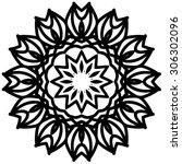 ornamental round floral pattern | Shutterstock .eps vector #306302096
