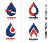 plumbing business icon vector...   Shutterstock .eps vector #306304316