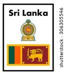 sri lanka flag and coat of arms ...   Shutterstock .eps vector #306305546