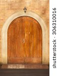 front doors arched detail... | Shutterstock . vector #306310016