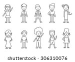 set of illustrations of people  ... | Shutterstock .eps vector #306310076