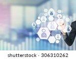 a concept of recruitment... | Shutterstock . vector #306310262