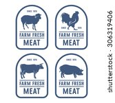 vintage meat labels. ideas for... | Shutterstock .eps vector #306319406