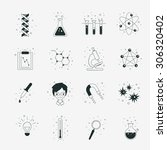 science icons. | Shutterstock .eps vector #306320402