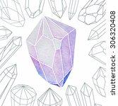 watercolor crystal | Shutterstock .eps vector #306320408