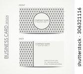 geometric monochrome business... | Shutterstock .eps vector #306321116
