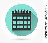 calendar   icon with long... | Shutterstock .eps vector #306321812
