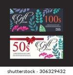 voucher  gift certificate ... | Shutterstock .eps vector #306329432