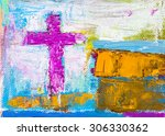Colorful Abstract Oil Painting...
