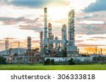 oil refinery factory in the... | Shutterstock . vector #306333818
