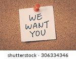 we want you   Shutterstock . vector #306334346