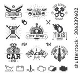 car service labels  emblems and ... | Shutterstock .eps vector #306339602