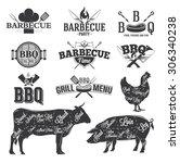 bbq emblems and logos   Shutterstock .eps vector #306340238