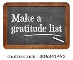 make a gratitude list  ... | Shutterstock . vector #306341492
