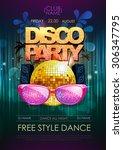 disco background. disco party...   Shutterstock .eps vector #306347795