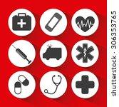 medical icons design  vector... | Shutterstock .eps vector #306353765