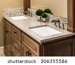 master bathroom sinks and... | Shutterstock . vector #306355586