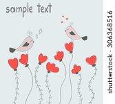 couple of birds in love. vector ...   Shutterstock .eps vector #306368516
