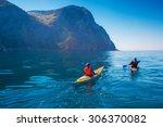 kayaking. people swim in the... | Shutterstock . vector #306370082