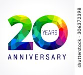 20 years old celebrating... | Shutterstock .eps vector #306372398