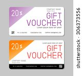 gift voucher template and... | Shutterstock .eps vector #306373556
