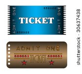 colorful cinema tickets with... | Shutterstock .eps vector #30637438