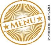menu grunge seal | Shutterstock .eps vector #306405266