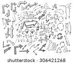 business doodles | Shutterstock .eps vector #306421268