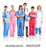smiling medical people with... | Shutterstock . vector #30642349