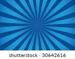 Vector Retro Blue Sunburst