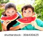 cute   siblings couple with... | Shutterstock . vector #306430625