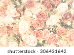 bouquet of  roses in mulberry... | Shutterstock . vector #306431642