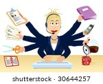 vector   stress and... | Shutterstock .eps vector #30644257