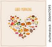 breakfast poster good morning | Shutterstock .eps vector #306447095