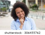laughing african american woman ... | Shutterstock . vector #306455762