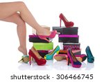 fashion shoes  | Shutterstock . vector #306466745