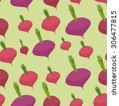 beet pattern. seamless... | Shutterstock . vector #306477815