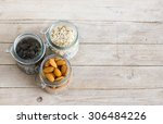 pumpkin seed  oats and almond... | Shutterstock . vector #306484226