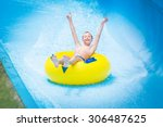 funny excited child enjoying... | Shutterstock . vector #306487625