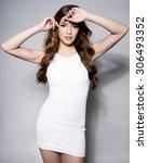 beautiful asian young woman in...   Shutterstock . vector #306493352